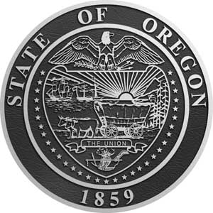 oregon Aluminum State Seal, Oregon aluminum  plaque