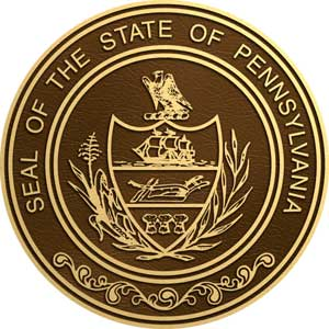 Pennsylvania bronze state seal, Pennsylvania bronze plaque