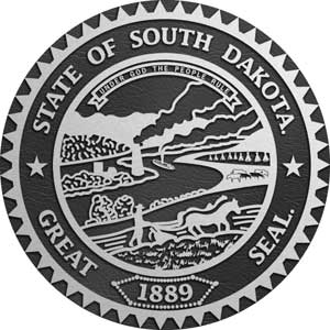 South Dakota Aluminum State Seal, South Dakota aluminum plaque