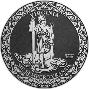 Virginia Aluminum State Seal, virginia aluminum plaque