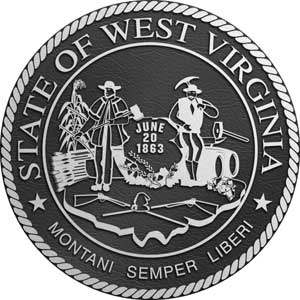 West Virginia Aluminum State Seal, West Virginia Aluminum state plaque