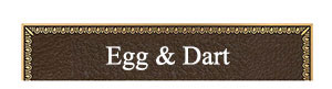 bronze plaque border egg & dart