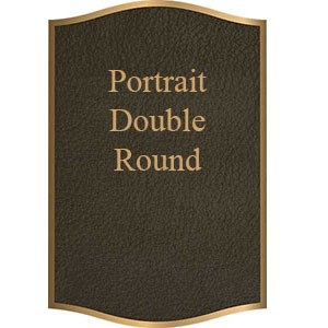 double round portrait bronze plaque