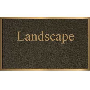 landscape bronze plaque