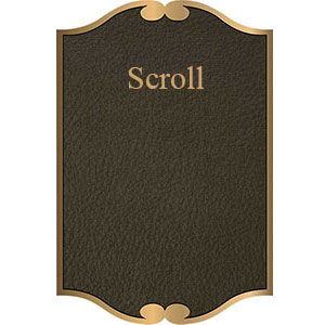scroll border bronze plaque